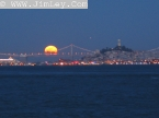 Moon Rise Over Bay Bridge
